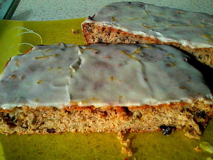 Feijoa Cake with Lemon Drizzle Icing!