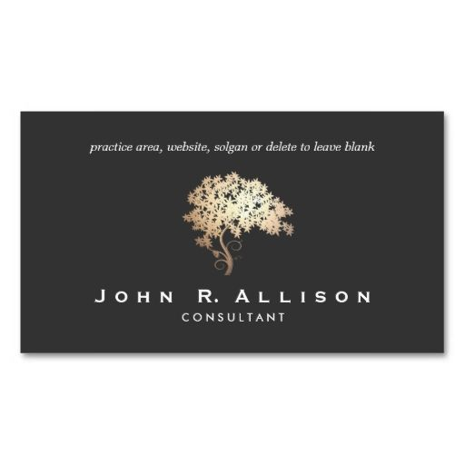Elegant Gold Tree Logo Entrepreneur Black Classy Business Cards. This great business card design is available for customization. All text style, colors, sizes can be modified to fit your needs. Just click the image to learn more!