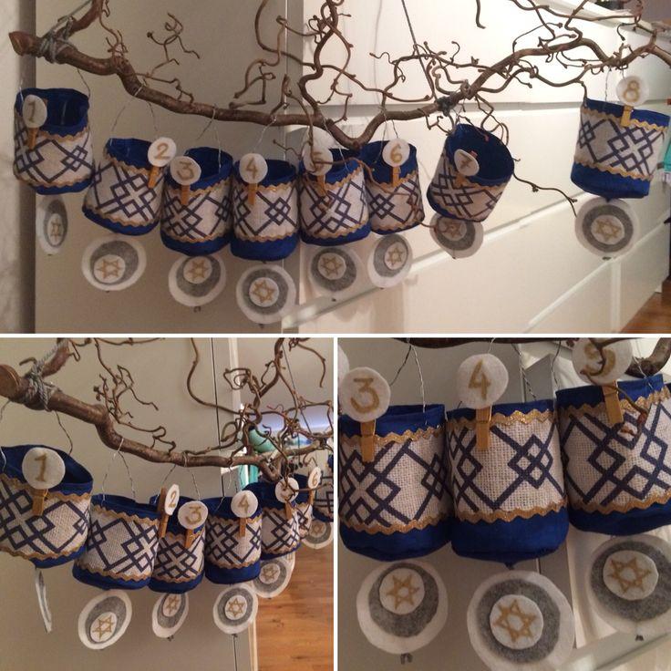 Presentkalender till judiskt firande av Hanukkah. #hanukkah #jewish
