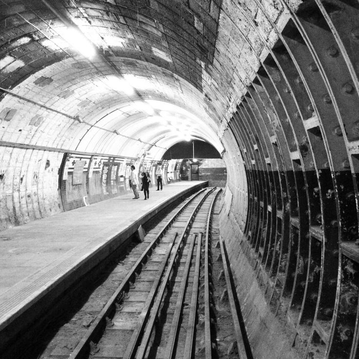 disused Aldwych Underground station