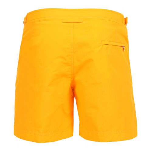 BULLDOG BOARDSHORTS COLOR ORANGE  Orange nylon BULLDOG boardshorts. Two front pockets. Zippered back pocket. Side adjustable strings. Interior snap button closure and zipper. Internal net. COMPOSITION: 100% POLYAMIDE internal net 100% POLYESTER. Model wears size 32 he is 189 cm tall and weighs 86 Kg.
