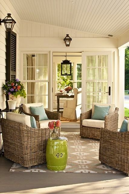 Outdoor Living: Super Cute and Cozy.... we can help you with design inside AND out... Ashley Carol Home & Garden Cornelius NC 704 892 4743 ashleycarolhome@gmail.com