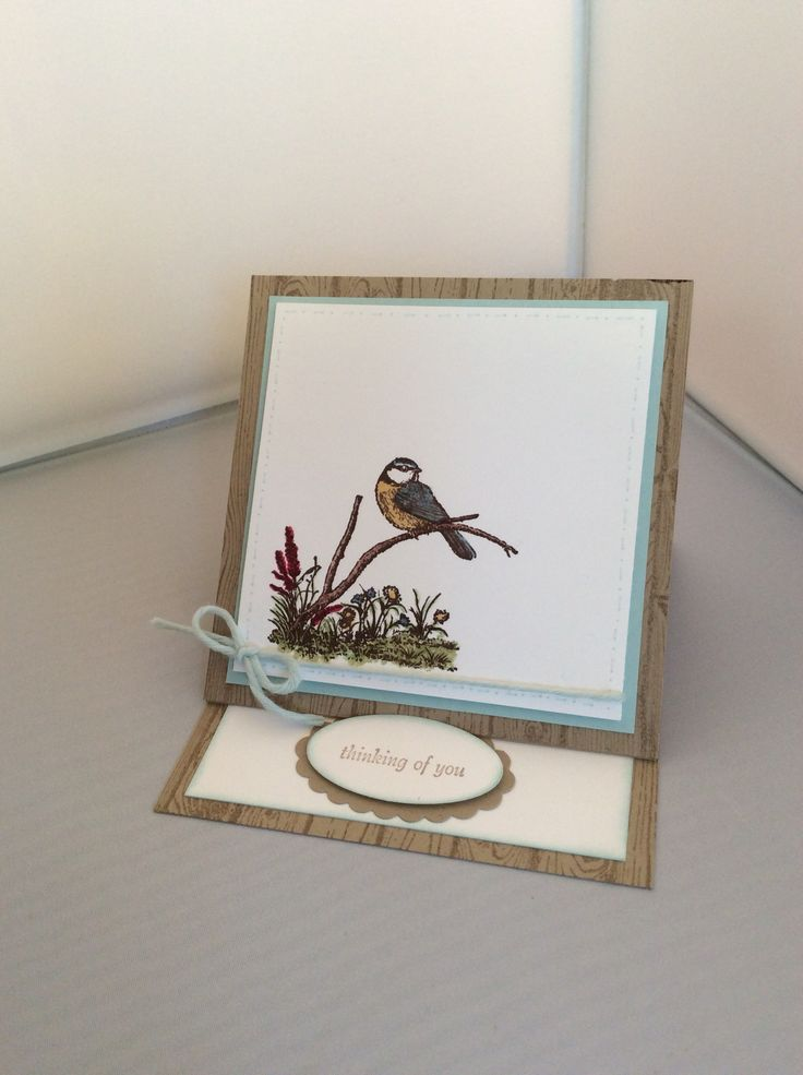 Moon Lake from Stampin Up -I love this little Blue Tit
