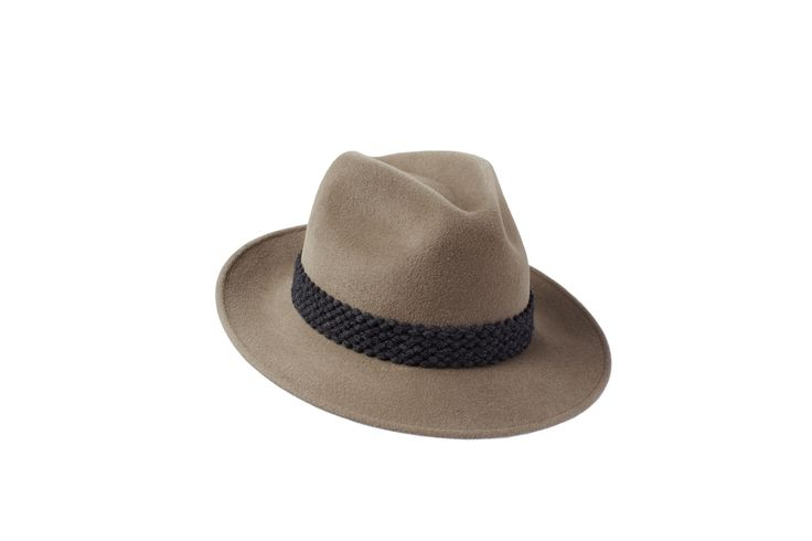 The Amber Trilby Collection |  Mink | Grey Wool Braid Band  www.penmayne.com #trilby #hats #accessories