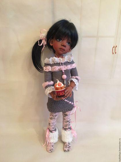 """Одежда для кукол ручной работы. Ярмарка Мастеров - ручная работа. Купить Наряд для кукол """"Снежный"""". Handmade. Комбинированный, авторская работа"""