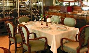 Table at Disney's Remy restaurant - French cuisine
