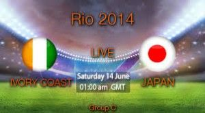 Ivory Coast vs Japan free online World Cup 2014 Soccer Live Streaming Watch Japan vs Ivory Coast online free soccer streaming HD TV match in here. Soccer fans can enjoy their important FIFA TV World Cup live 2014 free video match on PC/Mobile or Laptop.