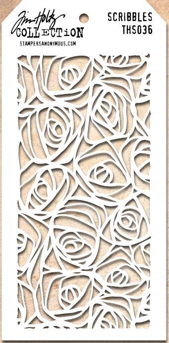 Tim Holtz Stencil THS036 Scribbles