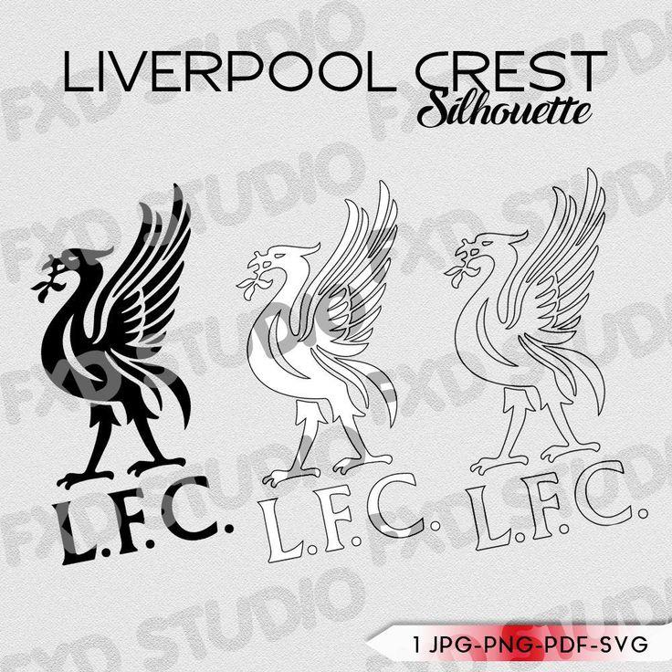 Liverpool F.C. Football Crest Silhouette Clip Art Image, Liverpool Football Club Crest ...
