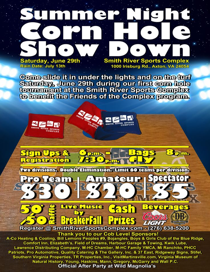 Corn Hole Tournament on June 29, 2013 at the Smith River Sports Complex
