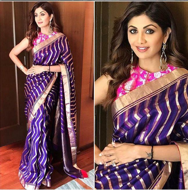 Shilpa Shetty In A Beautiful Sari
