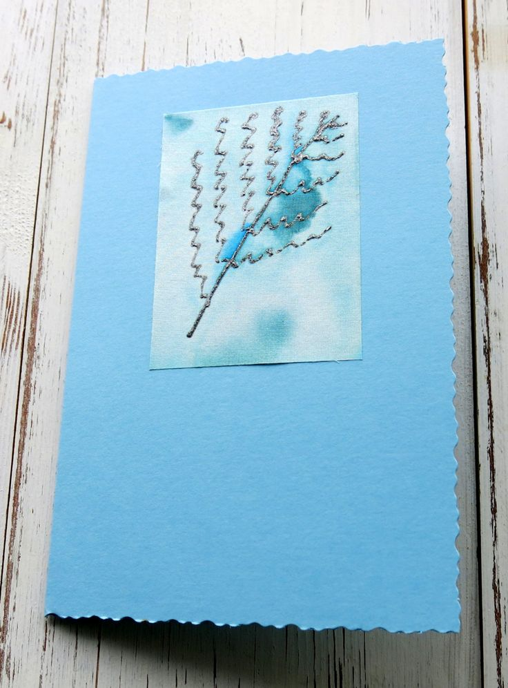 Blank card- birthday card - Silk painted card - fern leaf - hand painted -hand crafted - cards for men - leaf card -greeting card -uk seller by itsaMessyNest on Etsy