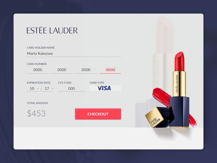 Credit Card Checkout - Estee Lauder