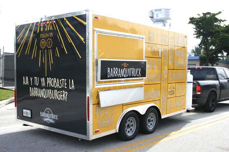 Concession Trailer Food Truck Wrap for Local Miami Small Business Food Industry Customer  http://www.carwrapsolutions.com/food-truck-trailer-wraps.html