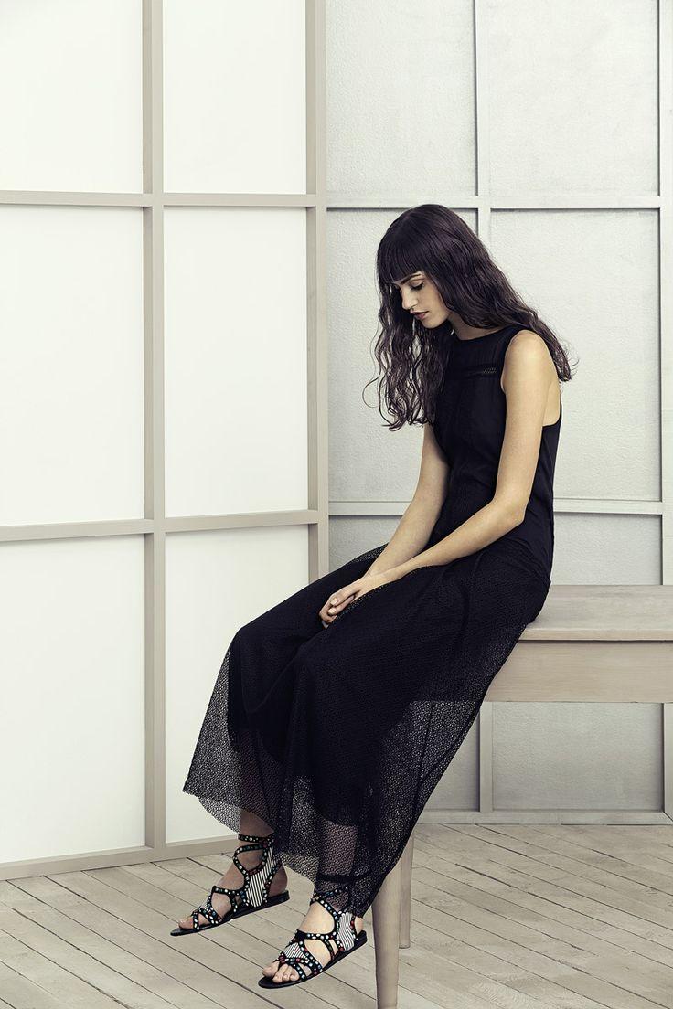 Collezione S/S 2014 AlphaStudio: maxi abito in mussola e tulle di cotone. #fashion #ss2014 #ss14 #moda