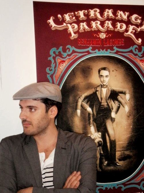 Talented and handsome Benjamin Lacombe, French artist