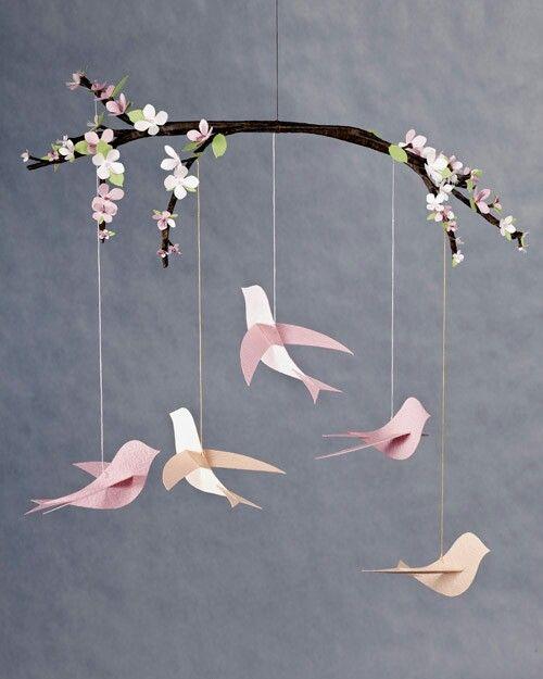 Tere vogeltjes van papier