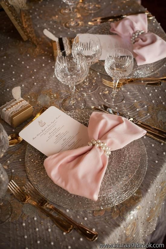decor for the table..love the napkin think i might do it!