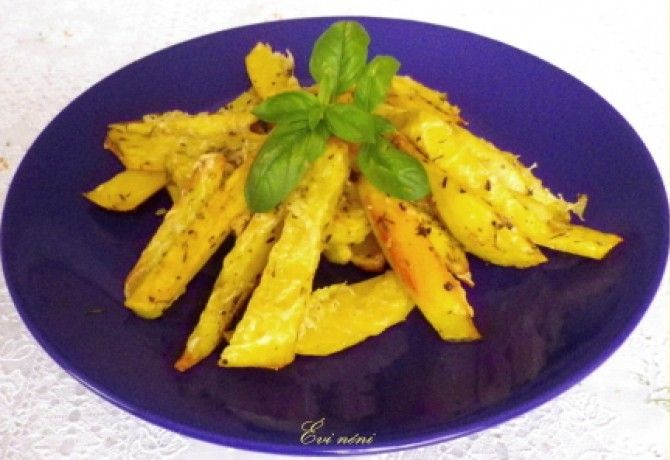 Sajtos-fűszeres sütőben sült krumpli recept képpel. Hozzávalók és az elkészítés részletes leírása. A sajtos-fűszeres sütőben sült krumpli elkészítési ideje: 40 perc