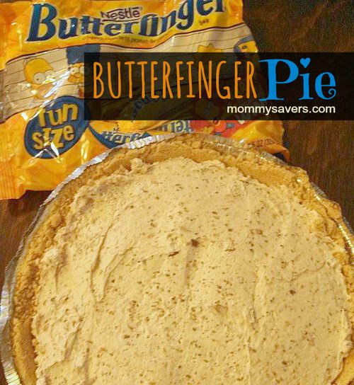 Butterfinger Pie - Great for leftover Halloween candy!