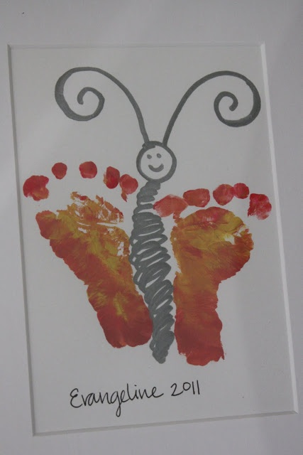 It's a Strange and Lovely Ride: Grandparents Day {Butterfly Footprint}