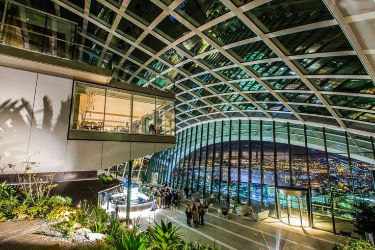 The Sky Garden in London - the highest park in the city, free entrance