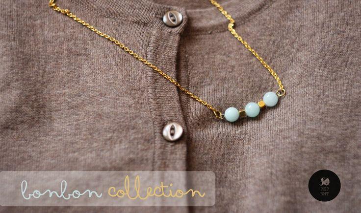 so peppermint: Wiosenna kolekcja BONBON #sopeppermint #sopeprmt #necklace #gemstones #spring