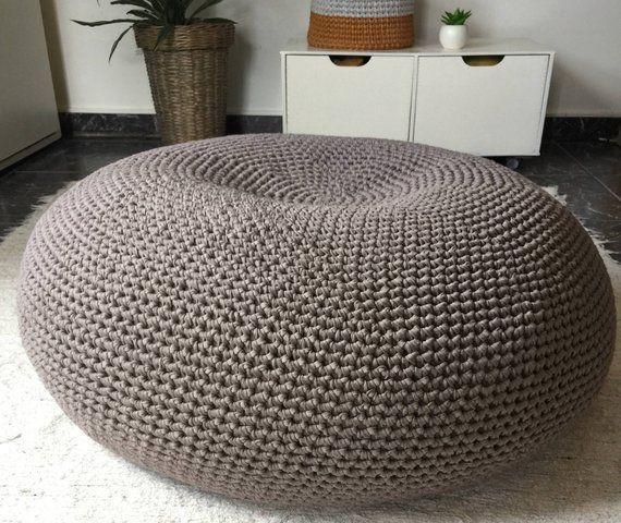 oversized round pouf ottoman giant