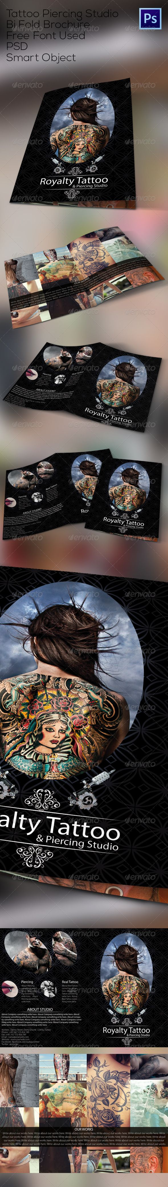 Tattoo Studio Bi Fold Brochure