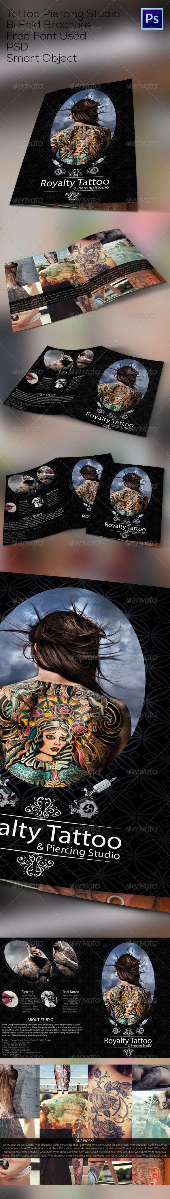 Tattoo Studio Bi Fold Brochure