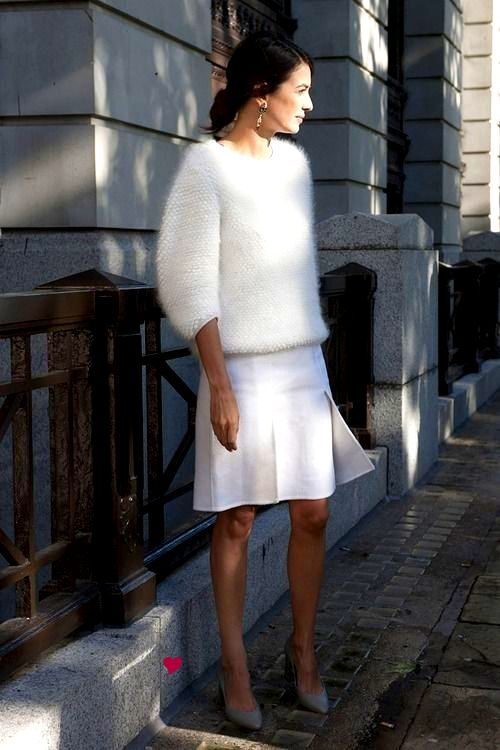 powder puff + structured white