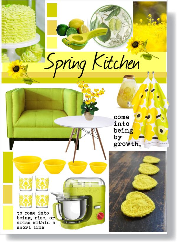 """spring kitchen"" by slpayne on Polyvore"