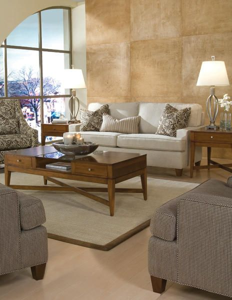 Sophisticated And Clean Living Room Scene Featuring The 2041 70 Sofa From  Huntington House #