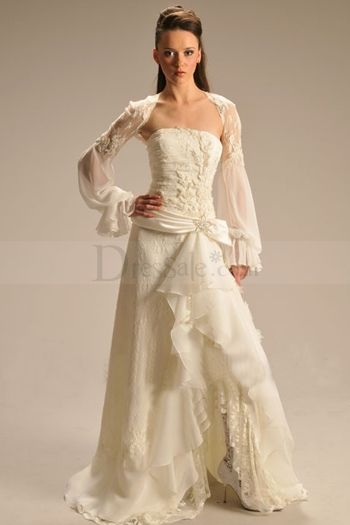 This is different but i like it i just wish the model for Unique wedding dress styles