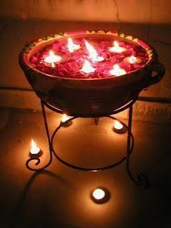 Floating Diwali Diyas, Floating Diwali Candles, Floating Candles, Floating Diyas ~ Diwali Celebrations 2012