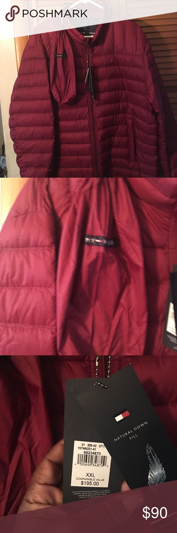 NWT Tommy Hilfiger down jacket Brand new TommyHilfiger unisex jacket Size 2X men's 3X women's The little bag is where you store the coat Tommy Hilfiger Jackets & Coats Puffers