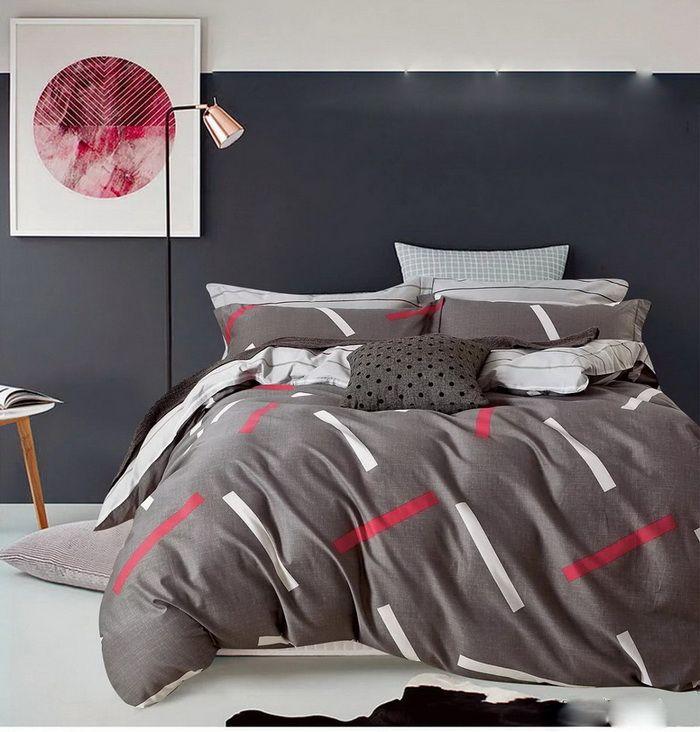 Elegancka pościel w kolorze szarym do pokoju