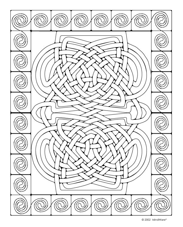 ... Coloring Pages, Celtic Mosaics, Celtic Color, Coloring Books, Color