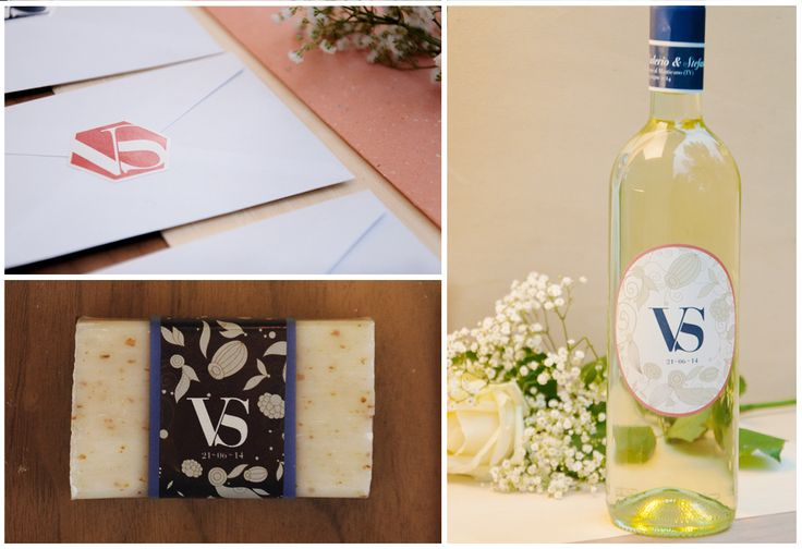 #bottiglie #personalizzate con il monogramma degli sposi. Un'idea #wedding da copiare :-)  http://combicom.it/
