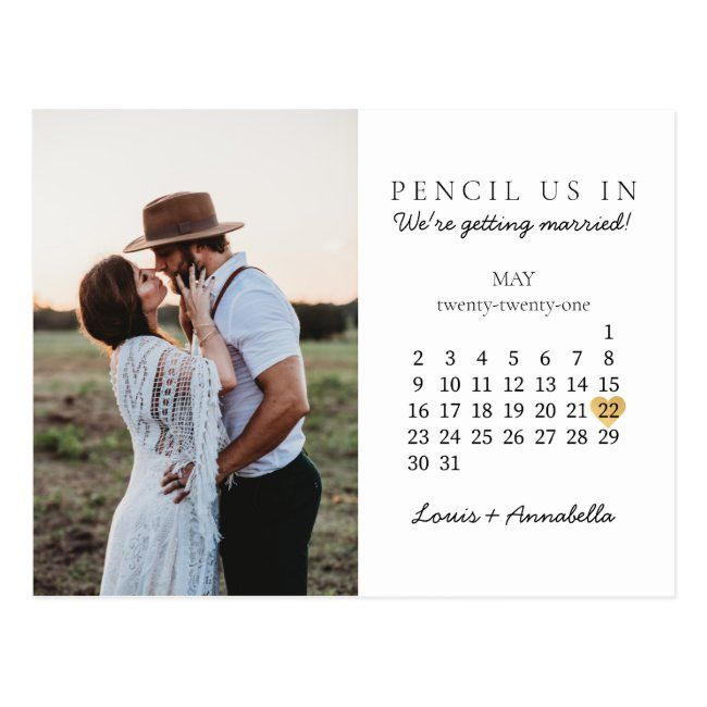 Save The Date Modern Calendar Gold Heart May 2021 Postcard Zazzle Com In 2020 Modern Calendar Save The Date Photo Calendar