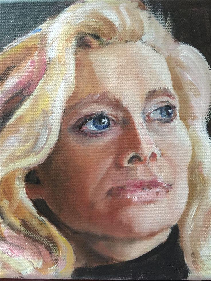 Portrait. Oil painting. Art