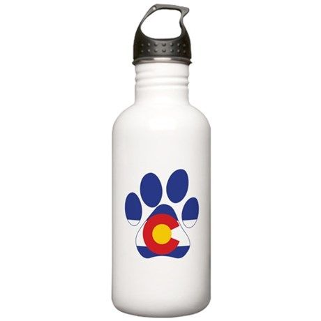 7185bba3335 Colorado Paws Water Bottle on CafePress.com Stainless Water Bottle