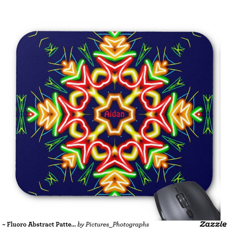 ~ Fluoro Abstract Pattern ~ Personalised AIDAN ~ Mouse Pad