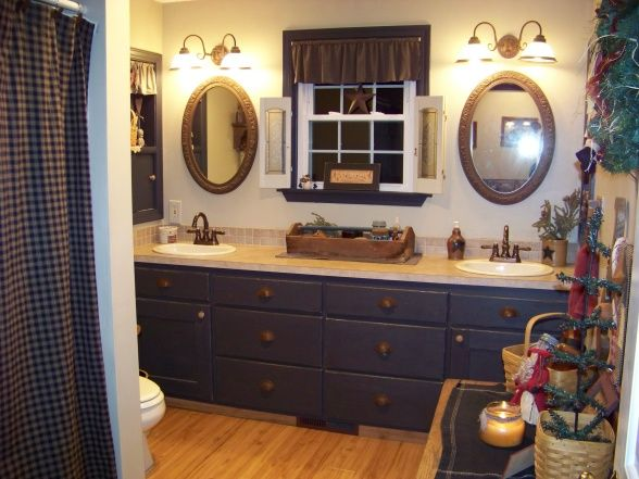 Primitive Decorating Ideas Primitive Christmas Bathroom Bathroom Designs Decorating Ideas