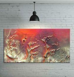Obraz ręcznia malowany na płótnie galeryjnym ZŁOTE FANTAZJE 70x100cm