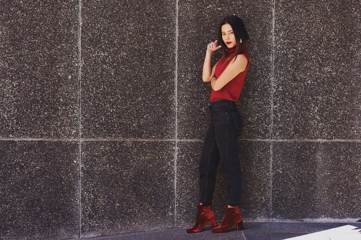 Make A Statement - Red Velvet Boots www.collectic.co.za