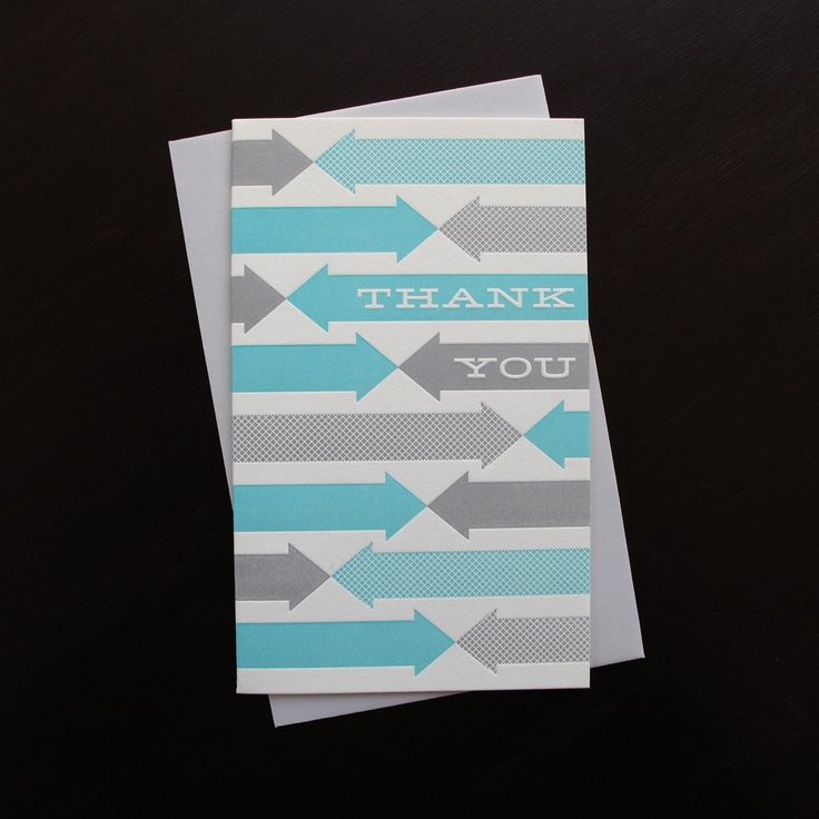 wedding custom thank you cards%0A Anemone Letterpress      fab thanks letterpress thank you card  set of