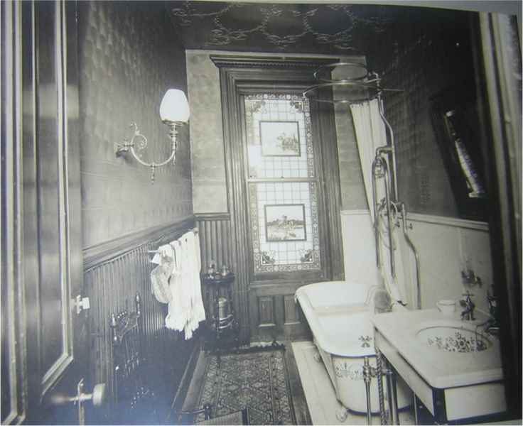 129 best images about victorian interior design on for Historic bathroom designs