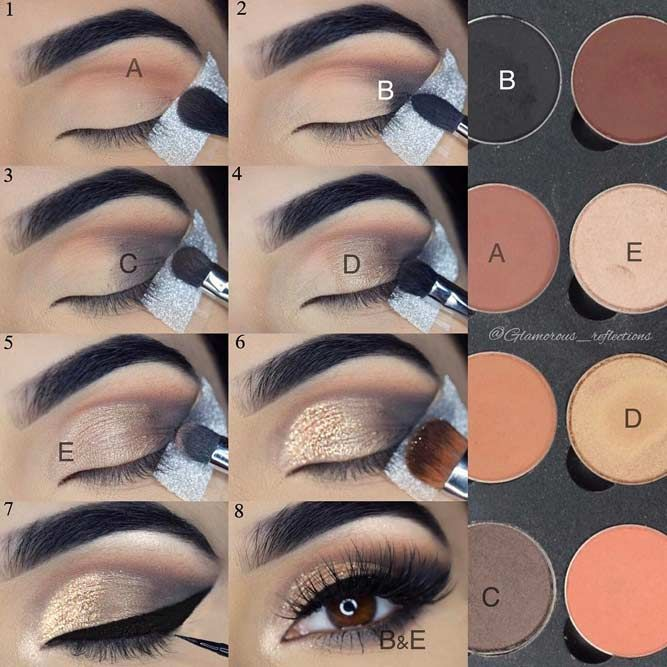 A smokey eye look is a perfect suggestion for any occasion. Whether you want to look mysterious and feminine or simple and elegant – there is always a way! A brown eye color is one of the best due to its ability to go together with any color. You do not need to choose between warm or cold shades! #makeup #makeuplover #makeupjunkie #eyemakeup