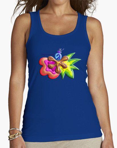 Camiseta de mujer Explosión de Color - Woman t-shirt Color Explosion - #Shop #Gift #Tienda #Regalos #Diseño #Design #LaMagiaDeUnSentimiento #MaderaYManchas #Woman #Mujer #tshirt #Cool #colors